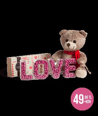 Sevimli Ayıcıklı  Love Çikolata Kutusu
