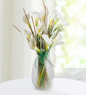 Gala Çiçeği Yapay Çiçek Aranjmanı