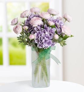 Erengüller ve Ortancalar Yapay Çiçek Aranjmanı