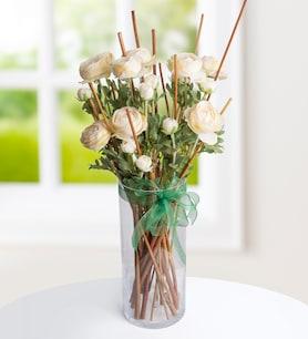 Fildişi Erengüller Yapay Çiçek Aranjmanı