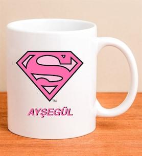 Kişiye Özel Lisanslı Super Girl Kupa
