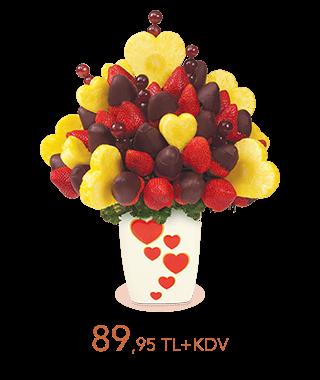 Çikolatalı Çileklerle Ananas Kalpler