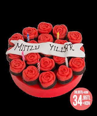 Mutlu Yıllar Mini Kek Buketi