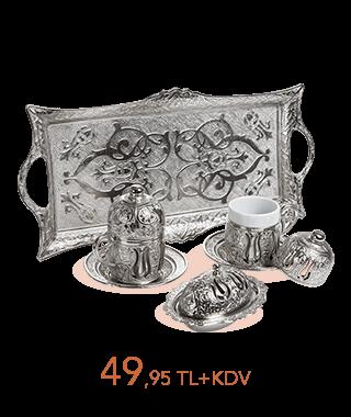 Osmanlı Motifli Türk Kahvesi Set