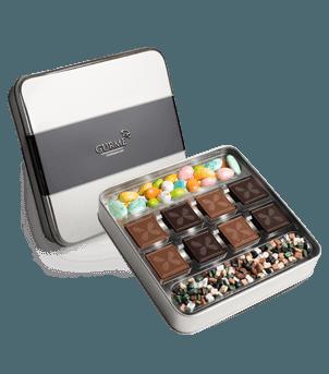 Lezzetli Kutlama madlen ve Draje Çikolata Kutusu