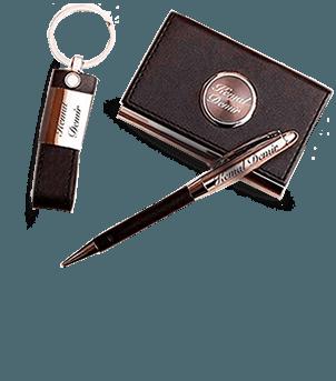 Kişiye Özel Kartvizitlik- Anahtarlık - Kalem Seti