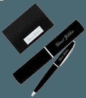 İsme Özel Kalem ve Kartvizitlik Set
