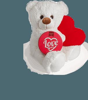 Love Çikolata Hediyeli 60cm Sevimli Ayıcık